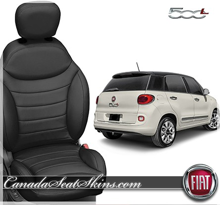 2015 - 2018 Fiat 500L Black Leather Seats