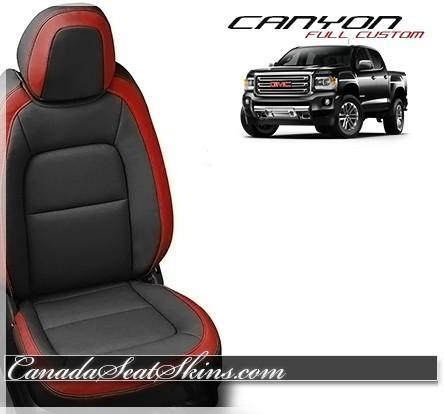 2015 - 2019 GMC Canyon Katzkin Red Leather Seats