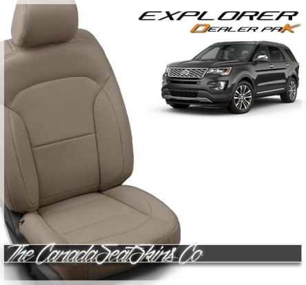 2016 - 2019 Ford Explorer Dealer Pak Leather Seat Conversion In Puddy