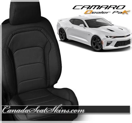 2016 - 2019 Chevrolet Camaro Black Leather Seats