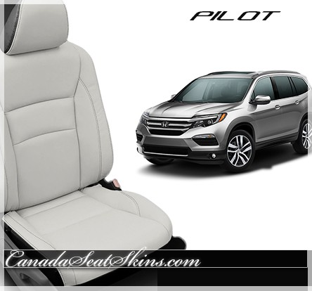 2016 - 2017 Honda Pilot White Katzkin Leather Seats