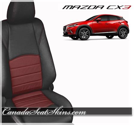 2016 2017 2018 Mazda CX3 Red Katzkin Leather Seats