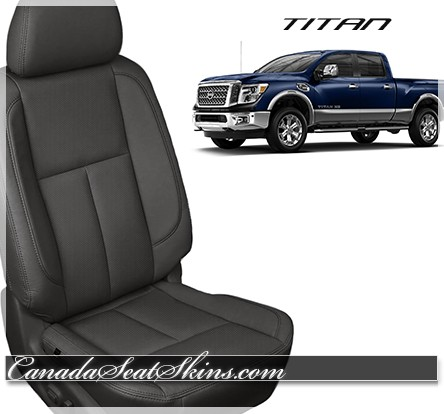2016 - 2019 Nissan Titan Black Katzkin Leather Seats
