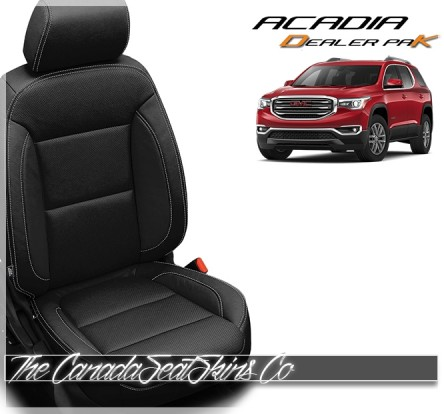 2017 - 2020 GMC Acadia Katzkin Black Leather Dealer Pak Promotional Leather Seat Kit