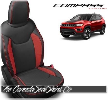2017 - 2021 Jeep Compass Custom Black Salsa Katzkin Leather Seat Sale