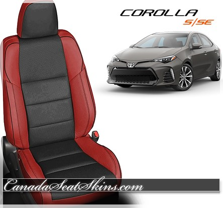 2014 - 2017 Corolla S and SE Red Katzkin Leather Seats
