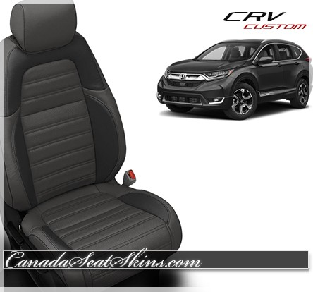 2017 2019 Honda Crv Katzkin Custom Black Suede Leather Seats