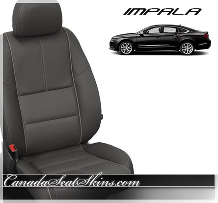 2014 - 2019 Chevrolet Impala Charcoal Katzkin Leather Seats