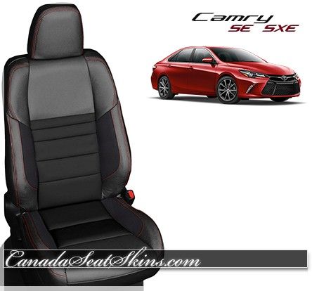 2015 - 2017 Camry SE XSE Katzkin Black Suede Leather Seats