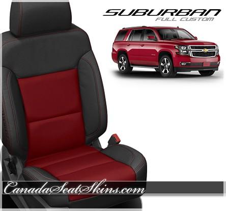 2015 - 2019 Chevrolet Suburban Katzkin Red Leather Seats