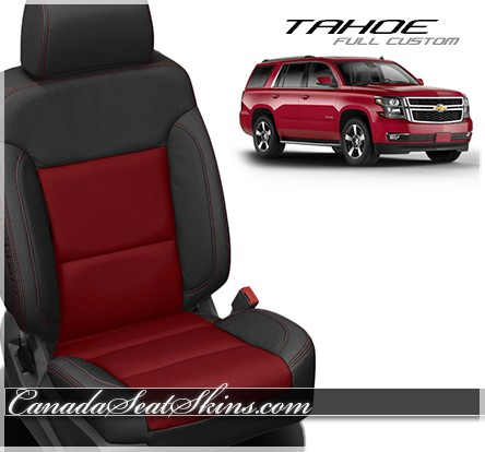 2015 - 2019 Chevrolet Tahoe Katzkin Red Leather Seats