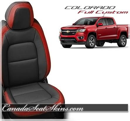 2015 - 2019 Chevrolet Colorado Katzkin Red Leather Seats