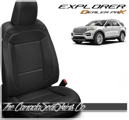 2020 - 2021 Ford Explorer Katzkin Dealer Pak Leather Seat Conversion In Black