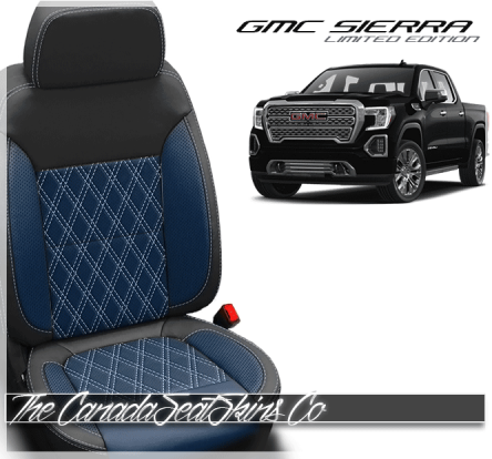 2019 - 2021 GMC Sierra Designer Diamond Stitched Leather Seats