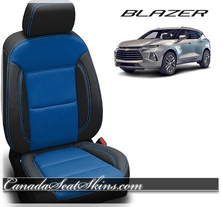 2019 Chevrolet Blazer Black Leather Seats with Cobalt Body Design