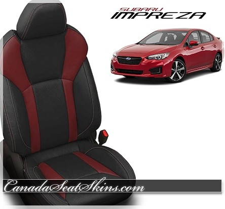 2017 - 2019 Subaru Impreza Custom Medium Red Katzkin Leather Upholstery