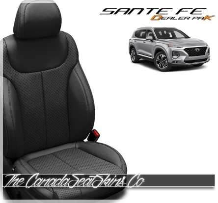 2020 - 2021 Hyundai Santa Fe Dealer Pak Replacement Leather Seat Kit in Black