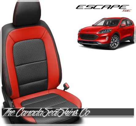 2020 - 2021 Ford Escape Custom Salsa Red Leather Seats