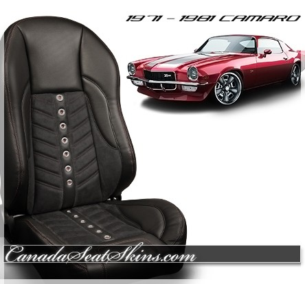 1971 - 1981 Camaro TMI Sport VXR Restomod Bucket Seats Black
