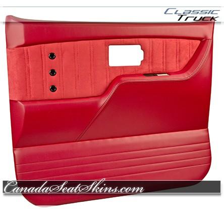 1973 - 1987 Chevrolet Truck TMI Sport XR Door Panel in Red