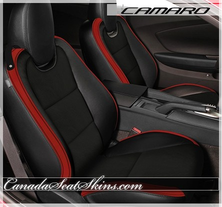 Chevrolet Camaro Custom Red Leather Seats