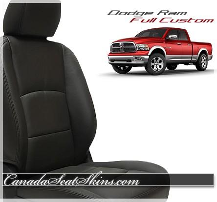 2009 - 2017 Dodge Ram Katzkin Black Leather Seat Kits