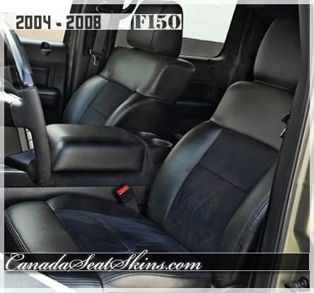 2004 - 2008 Ford F150 Black Katzkin Leather Seats