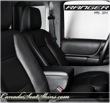 Ford Ranger Katzkin Black Custom Leather Seats