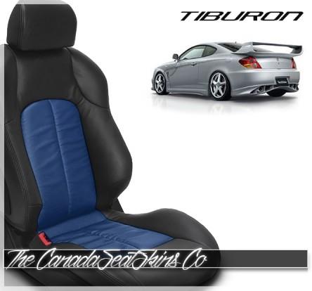 Hyundai Tiburon Pacific Blue Custom Katzkin Leather Seat Sale