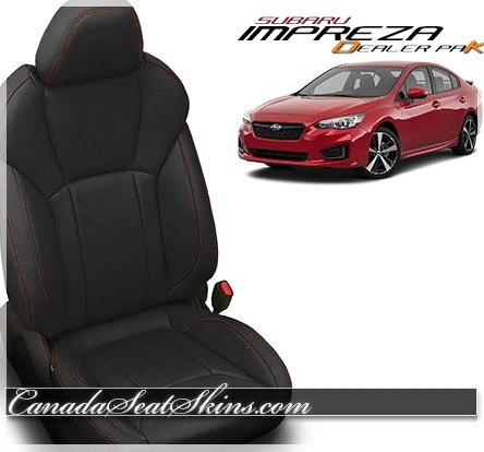2017 - 2019 Subaru Impreza Katzkin Leather Seat Promo Package Black