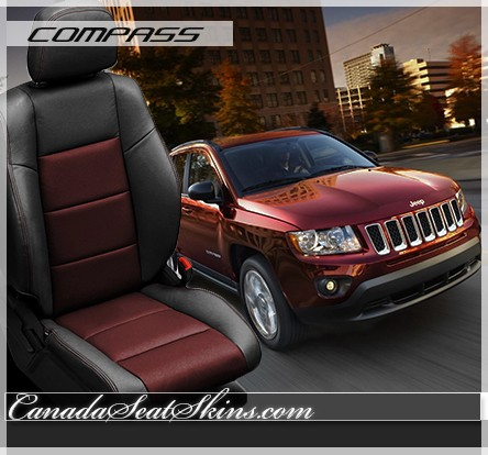 2014 - 2015 Jeep Compass Black Leather Seats