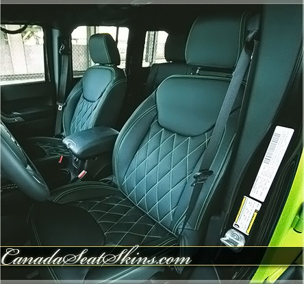 2013 2018 Jeep Wrangler Quilted Leather Upholstery