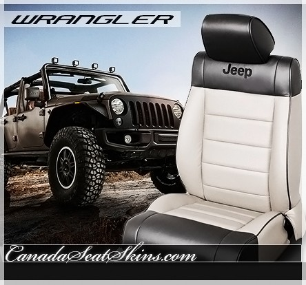 2007 - 2012 Jeep Wrangler Katzkin Two Tone Leather Wing Design