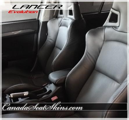 2008 - 2014 Mitsubishi Lancer Evolution Katzkin Leather Interiors