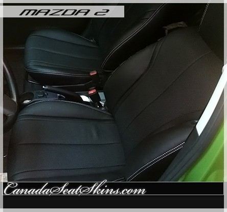 2011 - 2014 Mazda 2 Custom Black Leather Seats
