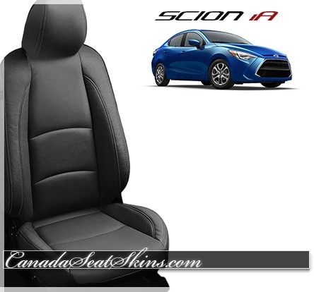 2016 - 2017 Scion IA Black Katzkin Leather Seats