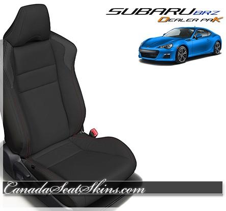 2013 - 2019 Subaru BRZ Black Leather Seats