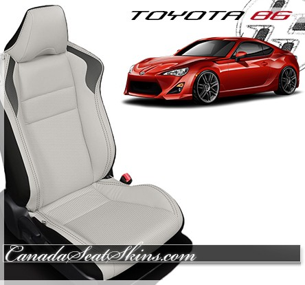 2016 - 2017 Toyota 86 Katzkin White Leather Seats
