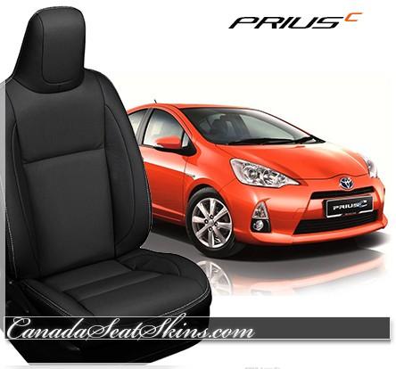 2012 - 2017 Toyota Prius C1 C2 C3 C4 Black Leather Seats