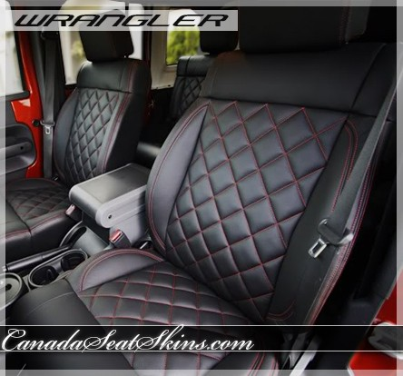 2011 2012 Jeep Wrangler Quilted Leather Upholstery