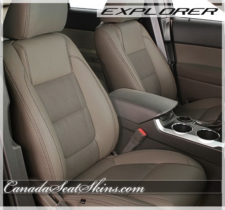 2011   2015 Ford Explorer Beach With Taupe Suede Leather Seats