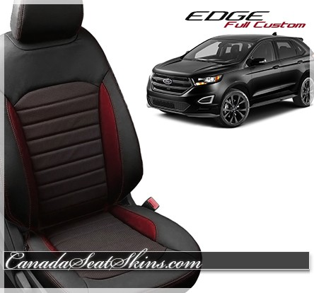 Ford Edge Katzkin Custom Red Leather Seats
