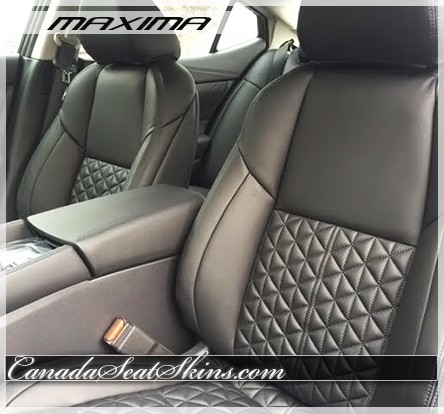 2016 2017 Nissan Maxima Quilted Custom Leather Upholstery