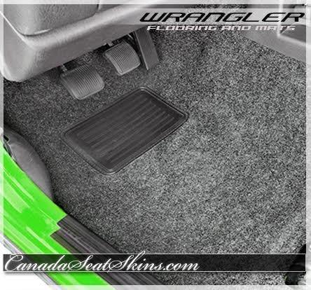 Full Set Carpet Kit Floor Mat For YJ Jeep Wrangler 1987-1995 Black 6 Piece