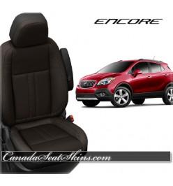 2013 - 2019 Buick Encore Black with Java Katzkin Leather Seats