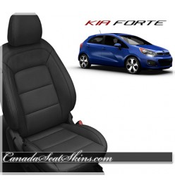 2014 - 2017 Kia Forte Black Katzkin Leather Seats