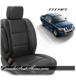 2004 - 2015 Nissan Titan Katzkin Black Leather Seats