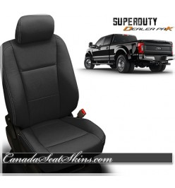 2017 - 2019 Ford F250 F350 Katzkin Black Leather Seats