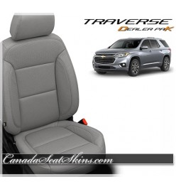 2018 - 2020 Chevrolet Traverse Leather Seat Upholstery Kit in Ash