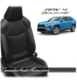 2019 Toyota Rav 4 Dealer Pak Leather Seat Upholstery Kit in Black